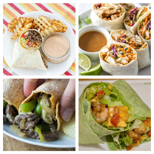 20 Mouth-Watering Lunch Roll-up Recipes- These are the best lunch wrap recipes you'll ever taste! They are easy, quick, filling, and there are so many different ones to try! | quick lunch recipe ideas, #lunchRecipes #food #recipes #easyLunch #ACultivatedNest