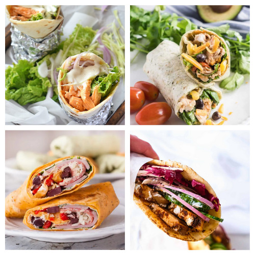 20 Mouth-Watering Sandwich Wraps to Make- These are the best lunch wrap recipes you'll ever taste! They are easy, quick, filling, and there are so many different ones to try! | quick lunch recipe ideas, #lunchRecipes #food #recipes #easyLunch #ACultivatedNest
