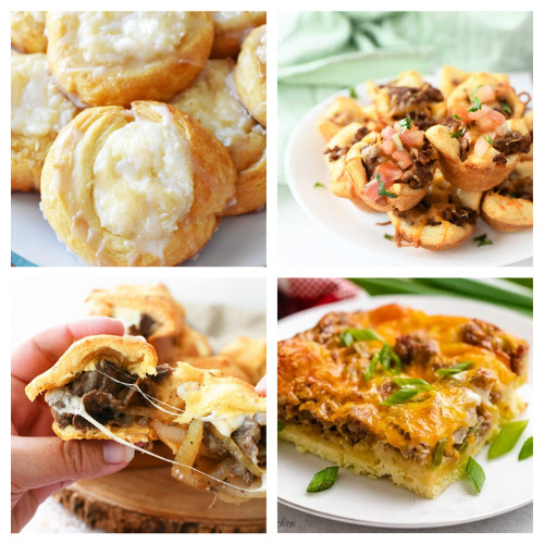 20 Delicious Recipes Using Crescent Roll Dough- Here are 20 delicious things to make with crescent roll dough. Whether you are looking for something sweet or savory, it's in this list! | #recipe #recipes #dessertRecipes #crescentRolls #ACultivatedNest