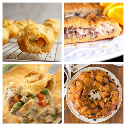 20 Dinners and Desserts to Make with Crescent Roll Dough- Here are 20 delicious things to make with crescent roll dough. Whether you are looking for something sweet or savory, it's in this list! | #recipe #recipes #dessertRecipes #crescentRolls #ACultivatedNest