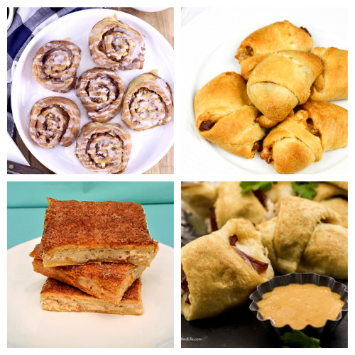 20 Delicious Recipes That Use Crescent Roll Dough- Here are 20 delicious things to make with crescent roll dough. Whether you are looking for something sweet or savory, it's in this list! | #recipe #recipes #dessertRecipes #crescentRolls #ACultivatedNest