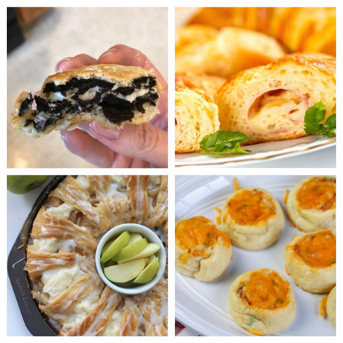 20 Delicious Crescent Roll Dough Recipes- Here are 20 delicious things to make with crescent roll dough. Whether you are looking for something sweet or savory, it's in this list! | #recipe #recipes #dessertRecipes #crescentRolls #ACultivatedNest