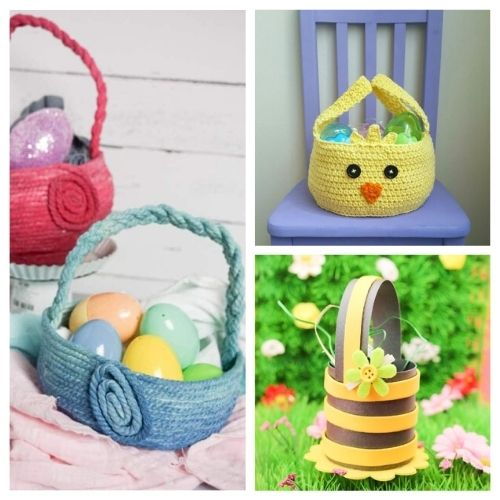 20 DIY Easter Baskets and Treat Bags- Make Easter even more special this year with some of these DIY Easter baskets and treat bags! There are so many cute possibilities! | homemade Easter baskets, how to make your own Easter treat bags, Easter crafts, Easter DIYs, #Easter #EasterBaskets #diyEaster #EasterTreatBags #ACultivatedNest