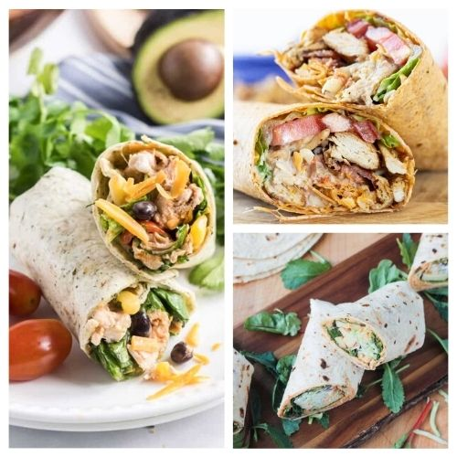 20 Mouth-Watering Lunch Wrap Recipes- These are the best lunch wrap recipes you'll ever taste! They are easy, quick, filling, and there are so many different ones to try! | quick lunch recipe ideas, #lunchRecipes #food #recipes #easyLunch #ACultivatedNest