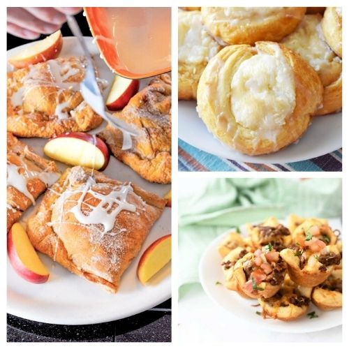 20 Tasty Things To Make With Crescent Roll Dough- Here are 20 delicious things to make with crescent roll dough. Whether you are looking for something sweet or savory, it's in this list! | #recipe #recipes #dessertRecipes #crescentRolls #ACultivatedNest