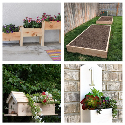 12 Easy Garden DIY Planters- Take a look at these 12 easy DIY garden planters for some inspiration. They are the perfect way to make your outdoor space more beautiful! | #DIY #diyProjects #gardening #gardenDIY #ACultivatedNest