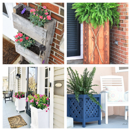 12 Easy Garden Planter DIY Projects- Take a look at these 12 easy DIY garden planters for some inspiration. They are the perfect way to make your outdoor space more beautiful! | #DIY #diyProjects #gardening #gardenDIY #ACultivatedNest