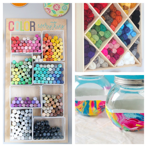 20 Clever Craft Room Organization Ideas- These 20 clever craft room organization ideas will help you get your space finally organized! They are all unique, and so helpful! | #craftRoom #craftOrganization #craftSuppliesOrganization #organizingTips #ACultivatedNest