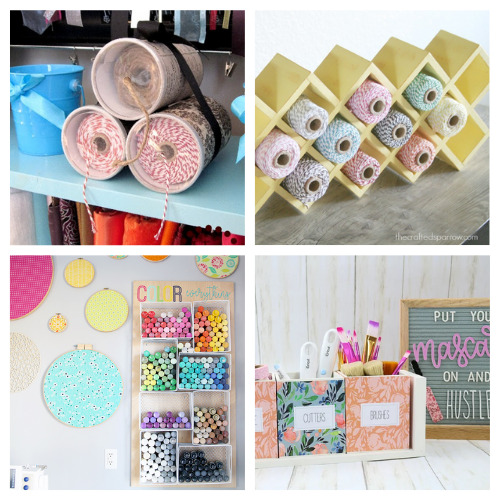 20 Clever Craft Supply Organization Ideas- These 20 clever craft room organization ideas will help you get your space finally organized! They are all unique, and so helpful! | #craftRoom #craftOrganization #craftSuppliesOrganization #organizingTips #ACultivatedNest