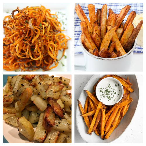 20 Delicious Homemade Fry Recipes- These 20 delicious homemade fry recipes are delicious, easy to make, and will please a picky crowd! They are the perfect side to any meal! | #recipe #homemade #frenchFries #sideRecipes #ACultivatedNest