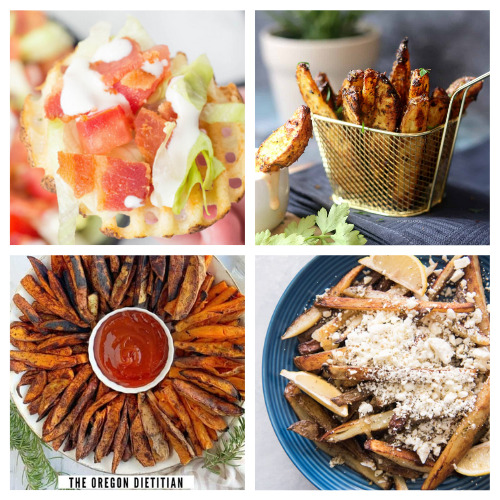 20 Delicious Homemade Fries- These 20 delicious homemade fry recipes are delicious, easy to make, and will please a picky crowd! They are the perfect side to any meal! | #recipe #homemade #frenchFries #sideRecipes #ACultivatedNest