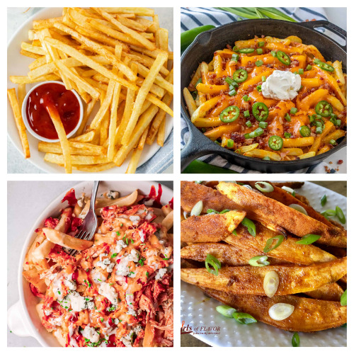 20 Delicious Tasty Homemade Fries Recipes- These 20 delicious homemade fry recipes are delicious, easy to make, and will please a picky crowd! They are the perfect side to any meal! | #recipe #homemade #frenchFries #sideRecipes #ACultivatedNest