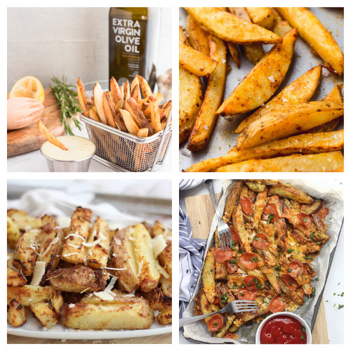20 Delicious French Fry Recipes- These 20 delicious homemade fry recipes are delicious, easy to make, and will please a picky crowd! They are the perfect side to any meal! | #recipe #homemade #frenchFries #sideRecipes #ACultivatedNest