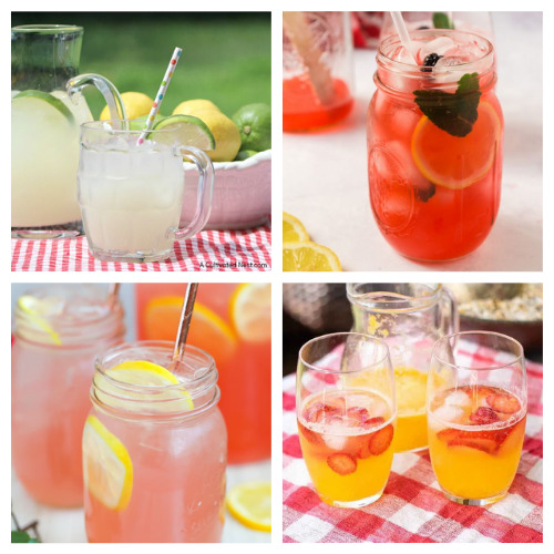 20 Delicious Homemade Lemonade Recipes- Quench your thirst with these delicious homemade lemonade recipes! They are easy to make and are the perfect treat on a hot day! | how to make lemonade from scratch, #recipe #drinkRecipe #lemonade #summerDrinks #ACultivatedNest