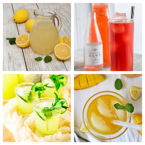 20 Delicious Lemonade Recipes from Scratch- Quench your thirst with these delicious homemade lemonade recipes! They are easy to make and are the perfect treat on a hot day! | how to make lemonade from scratch, #recipe #drinkRecipe #lemonade #summerDrinks #ACultivatedNest