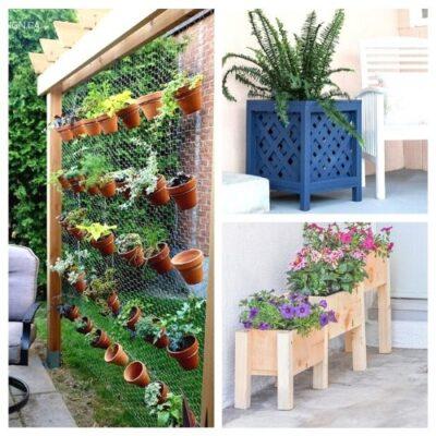 12 Easy DIY Garden Planters