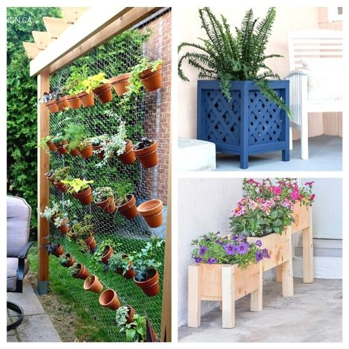 12 Easy DIY Garden Planters- Take a look at these 12 easy DIY garden planters for some inspiration. They are the perfect way to make your outdoor space more beautiful! | #DIY #diyProjects #gardening #gardenDIY #ACultivatedNest