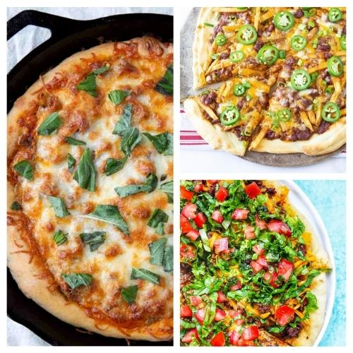 20 Incredible Homemade Pizza Recipes- Add some pizzazz to your meals by making these 20 incredible homemade pizza recipes! You will be craving pizza after checking them out! | how to make pizza from scratch, #recipe #food #pizza #homemadePizza #ACultivatedNest