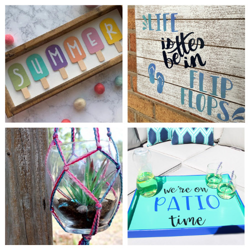 20 Fun Summer Décor Crafts- These fun summer crafts are perfect for teens and adults. Everyone will have a blast working on them, and they are utterly adorable!   #summerCrafts #craftIdeas #summerDIYs #diyProjects #ACultivatedNest