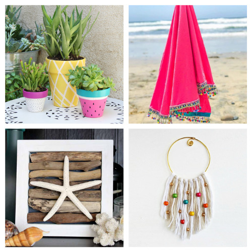 20 Fun Summer Décor DIYs- These fun summer crafts are perfect for teens and adults. Everyone will have a blast working on them, and they are utterly adorable!   #summerCrafts #craftIdeas #summerDIYs #diyProjects #ACultivatedNest