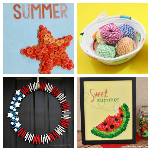 20 Fun Summer Crafts for Teens and Adults- These fun summer crafts are perfect for teens and adults. Everyone will have a blast working on them, and they are utterly adorable!   #summerCrafts #craftIdeas #summerDIYs #diyProjects #ACultivatedNest