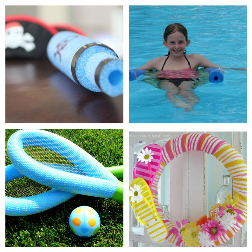 20 Fun Summer Pool Noodle Crafts for Kids- This is the perfect time to get busy making these fun summer pool noodle DIYs! They are sure to make you and your kids smile! | repurpose pool noodles, pool noodle crafts, #summerCrafts #kidsCrafts #craftsForKids #poolNoodleDIY #ACultivatedNest