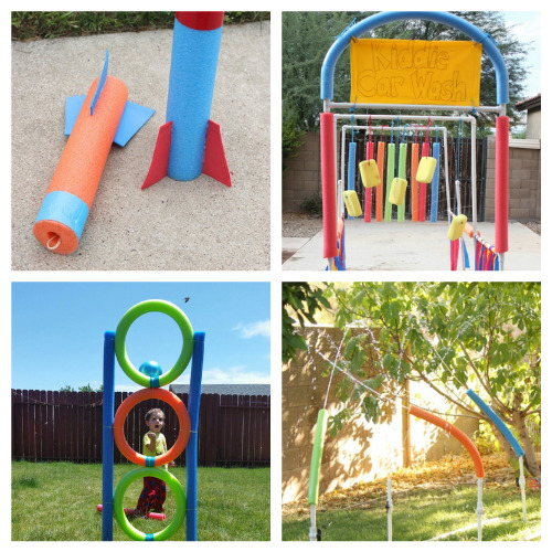20 Fun Summer Pool Noodle Repurpose Crafts- This is the perfect time to get busy making these fun summer pool noodle DIYs! They are sure to make you and your kids smile! | repurpose pool noodles, pool noodle crafts, #summerCrafts #kidsCrafts #craftsForKids #poolNoodleDIY #ACultivatedNest