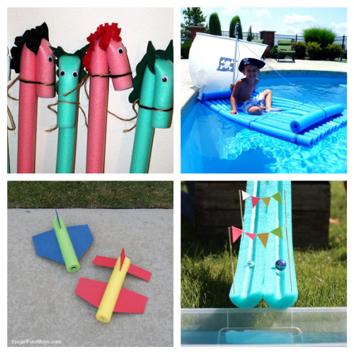 20 Fun Summer Pool Noodle Kids Crafts- This is the perfect time to get busy making these fun summer pool noodle DIYs! They are sure to make you and your kids smile! | repurpose pool noodles, pool noodle crafts, #summerCrafts #kidsCrafts #craftsForKids #poolNoodleDIY #ACultivatedNest