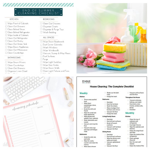 20 Summer Decluttering and Cleaning Checklist Printables- Summer is the perfect time for cleaning, and these summer cleaning and decluttering checklists will have your home tidy in no time! Many are also free printables, for even easier use! | #freePrintables #cleaningChecklist #declutteringChecklist #cleaningSchedule #ACultivatedNest