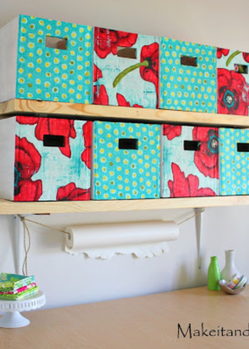 10 Clever Ways to Upcycle Cardboard Boxes for Organizing- If you need to get your home organized, save money and check out these clever ways to upcycle boxes for storage!   #organizingTips #homeOrganization #diyOrganizers #diyOrganization #ACultivatedNest