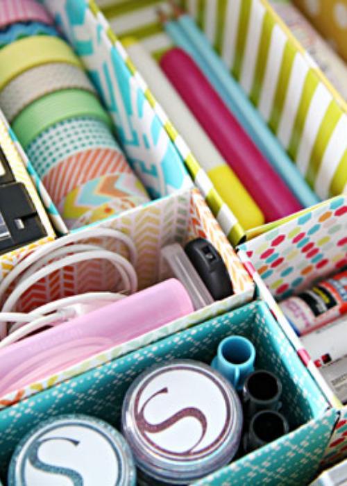 10 Clever Ways to Reuse Boxes for Organizing- If you need to get your home organized, save money and check out these clever ways to upcycle boxes for storage!   #organizingTips #homeOrganization #diyOrganizers #diyOrganization #ACultivatedNest