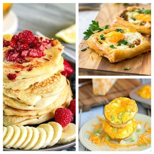 20 Comforting Homemade Breakfast Recipes- Make these comforting homemade breakfast recipes for holidays, events, or on Sunday mornings. They are easy, delicious, and hearty! | pancake recipes, waffle recipes, egg recipes, #breakfast #recipe #brunchRecipes #food #ACultivatedNest