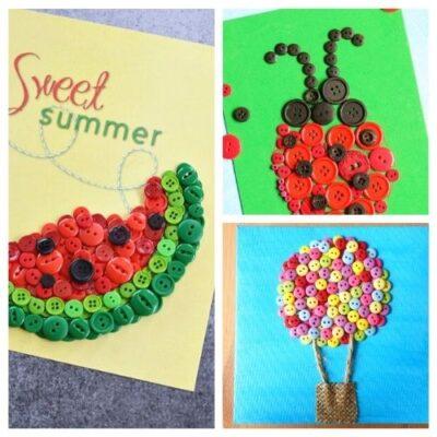 20 Summer Button Crafts for Kids