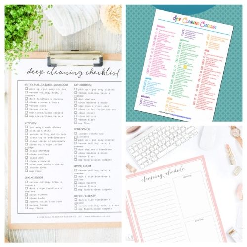 20 Summer Cleaning and Decluttering Checklists- Summer is the perfect time for cleaning, and these summer cleaning and decluttering checklists will have your home tidy in no time! Many are also free printables, for even easier use! | #freePrintables #cleaningChecklist #declutteringChecklist #cleaningSchedule #ACultivatedNest