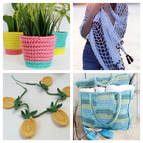12 Free Summer Crochet Patterns- Don't miss these free summer crochet patterns! They are perfect for the season and will keep you entertained even on the hot days!   summer crafts, easy crochet patterns, crochet patterns for beginners, #crochetPatterns #crochet #crafts #summerDIYs #ACultivatedNest