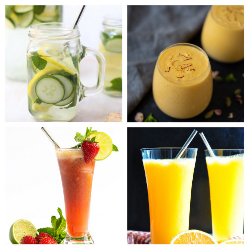 20 Homemade Drink Recipes Made with Real Fruit- Sip on these 20 homemade fruit drink recipes this summer! They will cool you off and refresh you even on the hottest days! | drinks made with real fruit, summer drinks, #fruitDrinks #drinkRecipes #nonalcoholicDrinks #recipes #ACultivatedNest