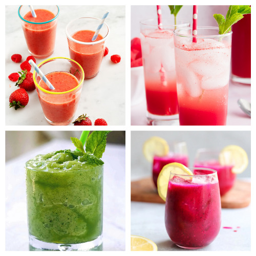 20 Homemade Summer Fruit Drink Recipes- Sip on these 20 homemade fruit drink recipes this summer! They will cool you off and refresh you even on the hottest days! | drinks made with real fruit, summer drinks, #fruitDrinks #drinkRecipes #nonalcoholicDrinks #recipes #ACultivatedNest