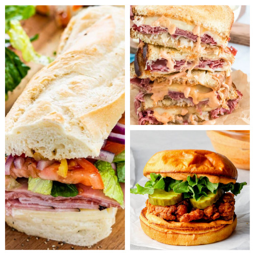 20 Mouthwatering Sandwich Recipes- These 20 sandwich recipes will have your mouth watering! They are quick and easy to make, plus, they're perfect for all occasions!   #sandwich #sandwichRecipes #lunchRecipes #recipes #ACultivatedNest