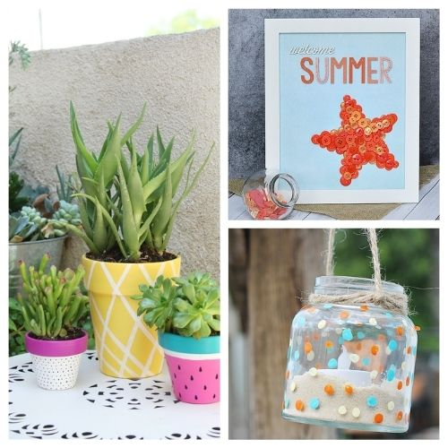 20 Fun Summer Crafts- These fun summer crafts are perfect for teens and adults. Everyone will have a blast working on them, and they are utterly adorable!   #summerCrafts #craftIdeas #summerDIYs #diyProjects #ACultivatedNest