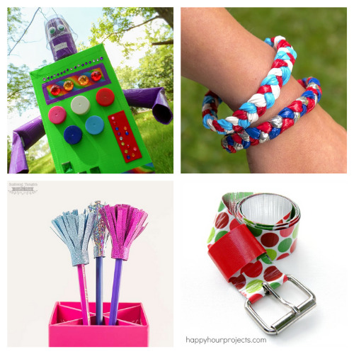 16 Creative Duct Tape Crafts- These 16 creative duct tape crafts are a blast to put together! They are great for kids and adults that want to get busy crafting. | #craft #crafting #ductTapeCrafts #craftsForTeenagers #ACultivatedNest