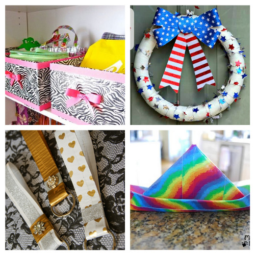 16 Creative Duct Tape DIYs- These 16 creative duct tape crafts are a blast to put together! They are great for kids and adults that want to get busy crafting. | #craft #crafting #ductTapeCrafts #craftsForTeenagers #ACultivatedNest