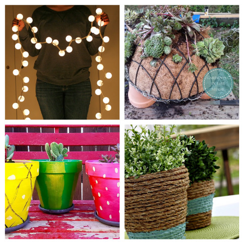 20 Brilliant Dollar Store Garden Décor Projects- We have compiled 20 brilliant dollar store garden DIYs that you can do this weekend! They are simple and add some fun to your garden!   #dollarStoreCrafts #craft #gardenDIY #gardening #ACultivatedNest