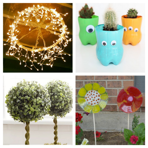 20 Brilliant Dollar Store Garden Crafts- We have compiled 20 brilliant dollar store garden DIYs that you can do this weekend! They are simple and add some fun to your garden!   #dollarStoreCrafts #craft #gardenDIY #gardening #ACultivatedNest