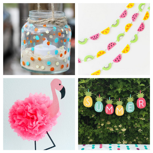 20 Fun Summer Party DIY Decorations- Throw a great get-together with these 20 easy summer party DIYs! They are the perfect way to add some festive fun to your space! | #summerParty #partyDIY #diyProjects #crafts #ACultivatedNest