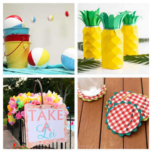 20 Fun Summer Party Décor DIYs- Throw a great get-together with these 20 easy summer party DIYs! They are the perfect way to add some festive fun to your space! | #summerParty #partyDIY #diyProjects #crafts #ACultivatedNest