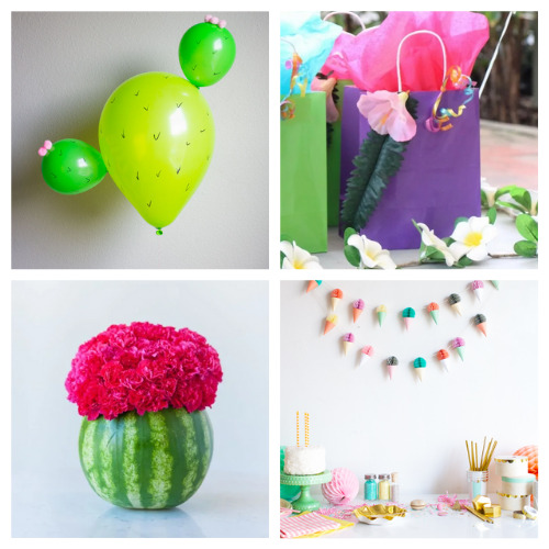 20 Fun Summer Party Crafts- Throw a great get-together with these 20 easy summer party DIYs! They are the perfect way to add some festive fun to your space! | #summerParty #partyDIY #diyProjects #crafts #ACultivatedNest