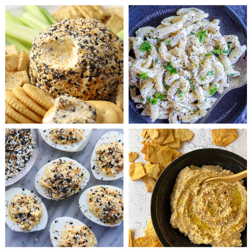 20 Everything Bagel Seasoning Recipes- These tasty everything bagel seasoning recipes will have you smacking your lips! They are so flavorful, and easy to make, too!   #recipes #everythingBagelSeasoning #recipeIdeas #appetizerRecipes #ACultivatedNest