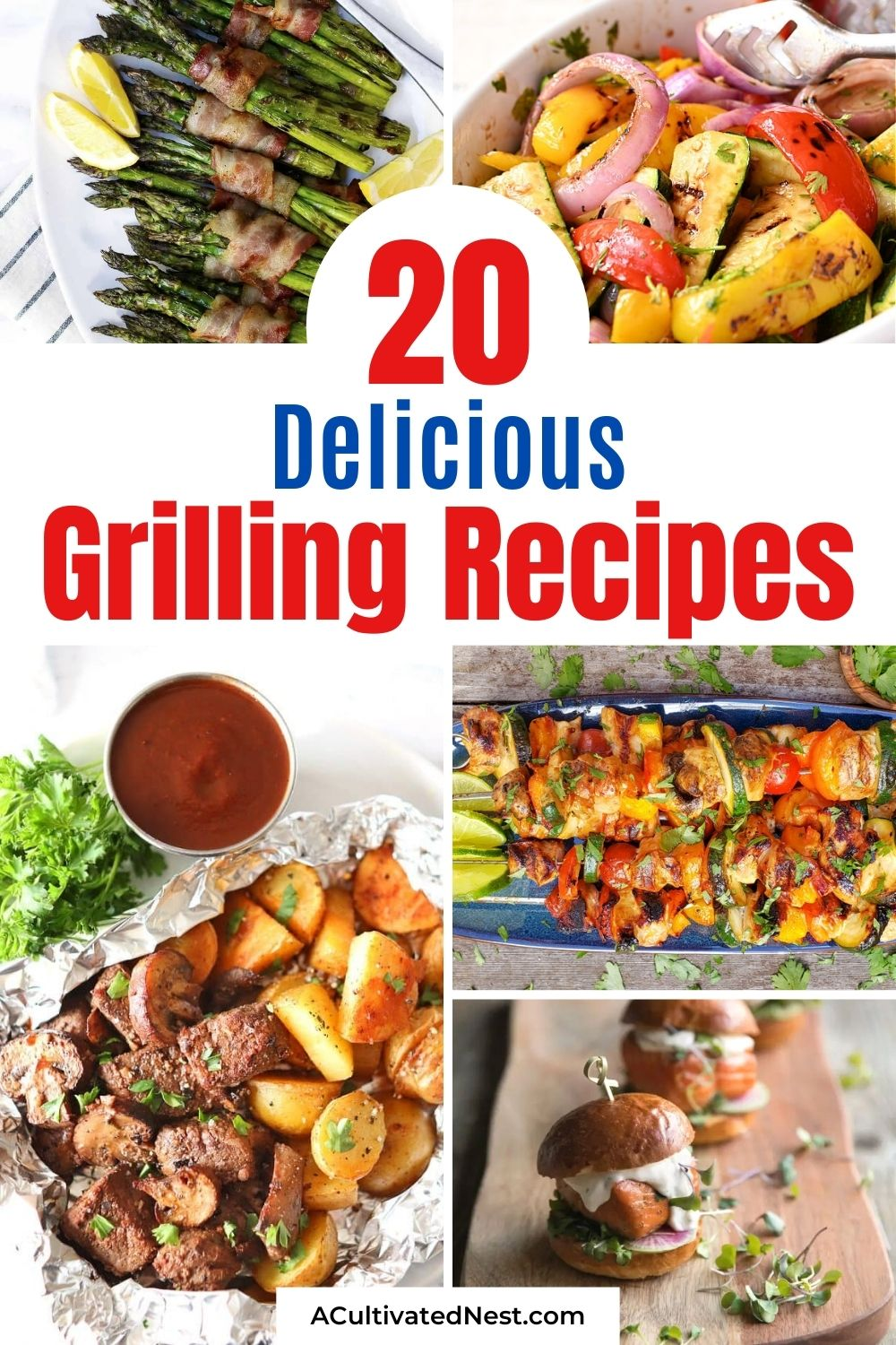 20 Delicious Grilling Recipes- You will be drooling when you taste these 20 delicious grilling recipes! They are perfect for all your summer parties and get-togethers! | #grilling #grillRecipes #recipes #summerRecipes #ACultivatedNest