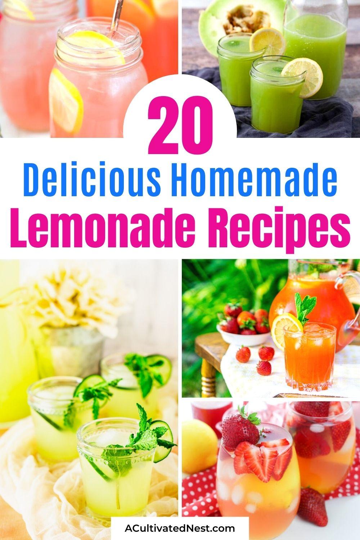 20 Delicious Homemade Lemonade Recipes