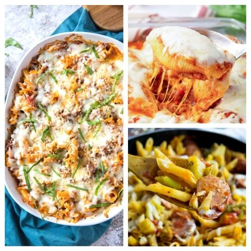 20 Delicious Pasta Dinner Recipes- Your taste buds will be thanking you when you bite into these 20 delicious pasta dinner recipes! They are easy and tasty! | #recipe #pasta #dinnerRecipes #easyDinnerIdeas #ACultivatedNest